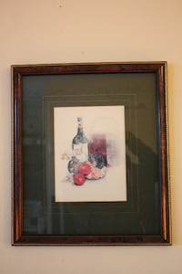 "Framed art print 14""x16""  -Wine theme Burlington"
