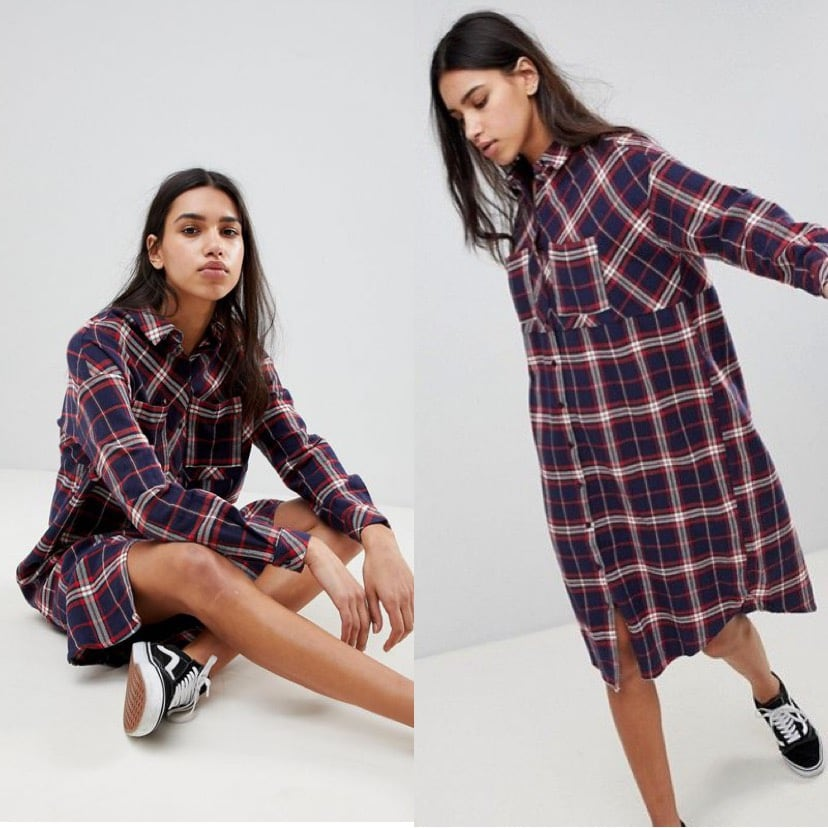 New NOISY MAY Check Shirt Dress- SMALL