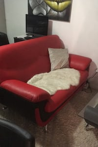 Red and black leather couch set Edmonton, T5E 5N6