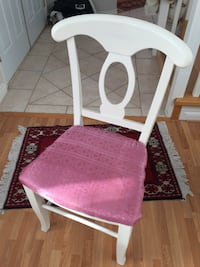 Pink padded white wooden chair Surrey, V4N 4Z7