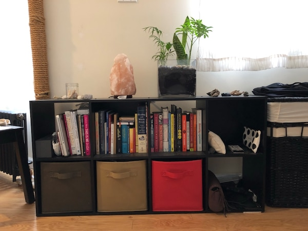 Black Box Bookshelf with Drawers