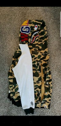 Camouflage Bape hoodie (Button Up) Camp Springs, 20746