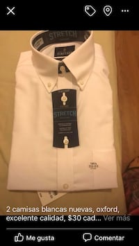 white and black button-up shirt Closter, 07624