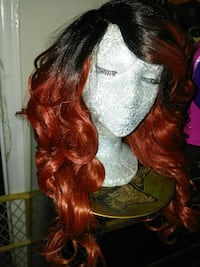 woman's red hair wig