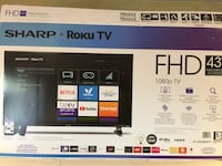 "43"" Sharp Smart tv with Roku  Waterloo, N2K 4H2"