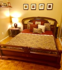 Beautiful,unique hand carved wood bed frame Toronto, M5E 1V2
