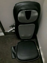 black and gray leather rolling armchair Toronto, M6G