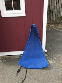 Two blue swing chairs. Excellent condition includes all pulleys and mounting brackets Alexandria, 22302