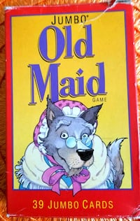 Rare Vintage Old Maid Card Game