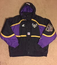 Vintage 90's Logo Athletic NFL Pro Line Baltimore Ravens Puffer Coat Jacket Size Extra Large Laurel, 20708