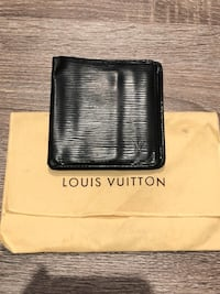 Men's Louis Vuitton wallet in black Epi Leather Washington, 20001
