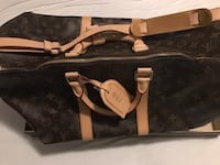 svart og brun Louis Vuitton monogram tote bag Sandvika, 1336