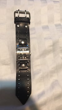 Men's leather watch (thick belt band) New York, 11374