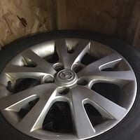 chrome Volkswagen multi spokes wheel with tire