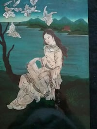 Mother  of pearl Chinese  girl wall plack Las Vegas, 89107