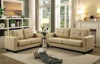 white leather sofa set with coffee table Hyattsville, 20783