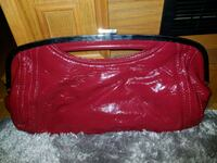 Red hand purse