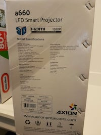 """Led projector and 72""""screen BNIB"""