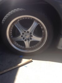 grey Konig vehicle wheel with tire