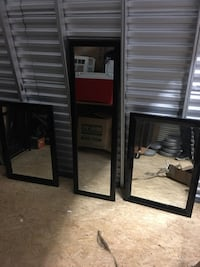two black wooden framed mirrors New York, 11232