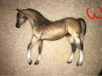 brown and gray horse figurine