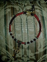 red and black beaded necklace Sebastian