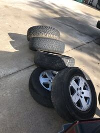 5 rims and tires for 07 Jeep Wrangler $250 obo Temecula, 92591