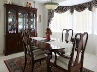 Mahogany Dining Table, China Cabinet 2 Leaves Plus Table Pad New Port Richey, 34655