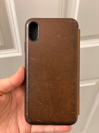 NOMAD iPhone XS Max Rustic Leather Folio Revere, 02151