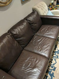 brown leather 3-seat sofa Markham, L3R 3T1