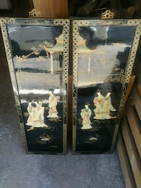 two black Asian decorative artworks Laval, H7W 4A4