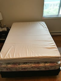 white mattress and brown wooden bed frame Arlington, 22201