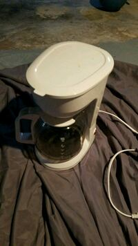 White 12 cup coffee maker