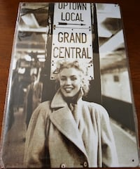 """NEW Marilyn Monroe Grand Central Station METAL SIGN ~ 12x8"""""""