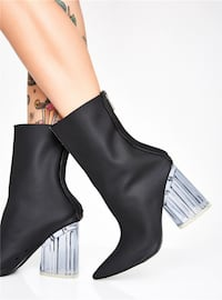 KENDO URBAN WEAR DODILO HIGH HEEL BOOTIES WITH BACK ZIPPER