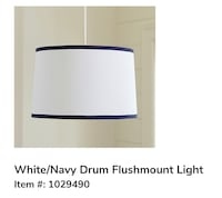 Pbkinds Flashmount Light - white and blue Chantilly, 20152