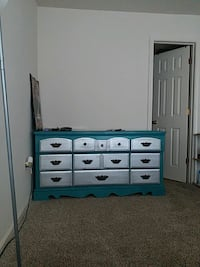 blue wooden dresser with mirror Hyattsville, 20783