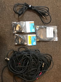 assorted sound cables.