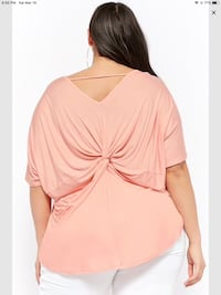 Plus size slub knit twist-back top Calgary, T3G 4E1