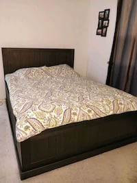Solid wood Queen bed frame with 4 big side drawers Annandale, 22003