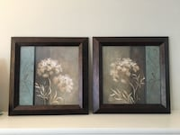 Two black wooden framed painting of flowers Scotch Plains, 07076