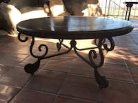 Coffee table round wooden pedestal table