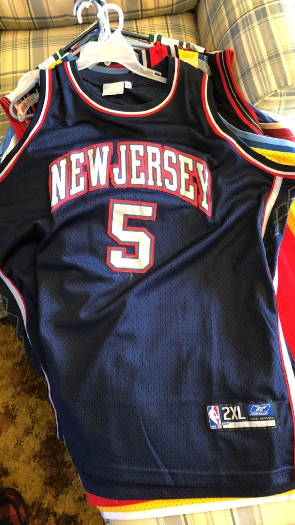 105ef295457a Used black and white New Jersey 5 basketball jersey for sale in Barnegat
