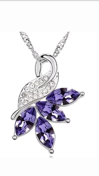 silver-colored and purple gemstone pendant Germantown, 20876