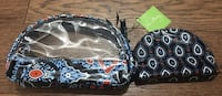 New Vera Bradley Cosmetic Duo Marrakech Makeup Cosmetic Bag Case Pouch Chicago, 60611