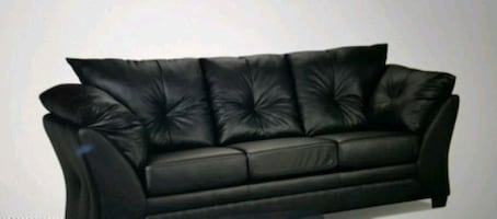Black faux leather couch, it retails for over 800, I have the receipt.