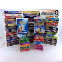 Lot 57 Disney VHS Video Tape Movies Vintage Classics Masterpiece Sing Along Port Colborne