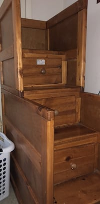 Brown wooden dresser that can also be used as bunk bed stairs Charlotte, 28273