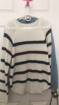 white and black striped sweater Newman, 95360