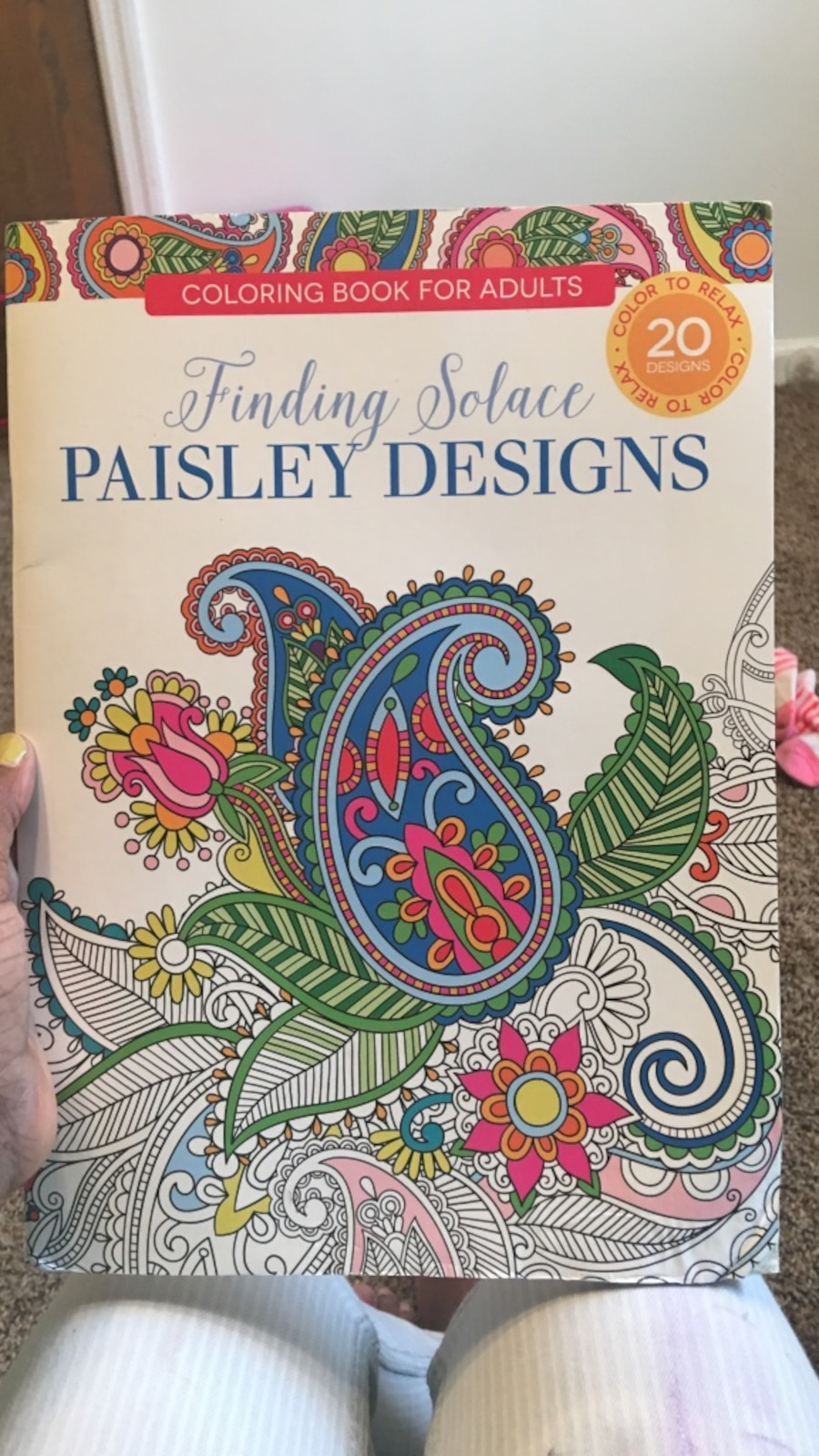 Finding Solace Paisley Designs Coloring Book For Adults In Mason